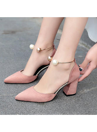 Women's Fabric Stiletto Heel Pumps With Pearl shoes