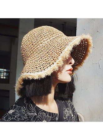 Ladies' Lovely/Fashion Rattan Straw Beach/Sun Hats