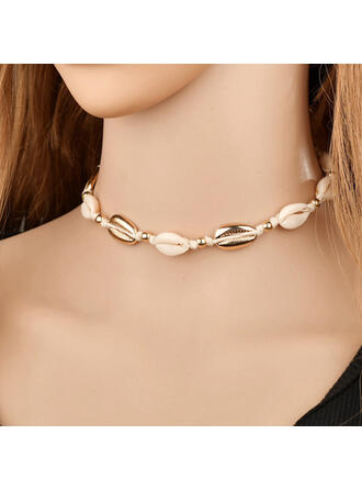 Stylish Hottest Alloy Braided Rope With Shell Bracelets Beach Jewelry
