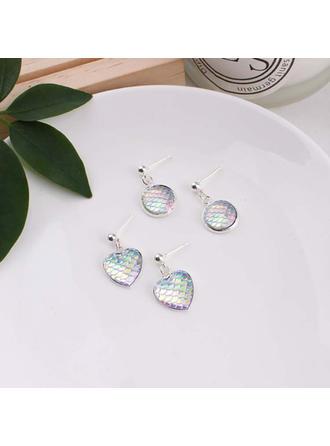 Unique Alloy Acrylic Women's Fashion Earrings (Set of 2)