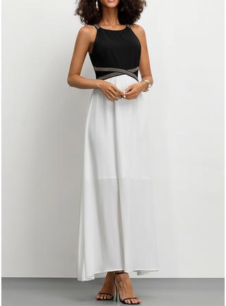 Wyszczuplająca Bez rękawów W kształcie litery A Przyjęcie Maxi Sukienki