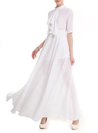 A-line Maxi Sexy Dresses