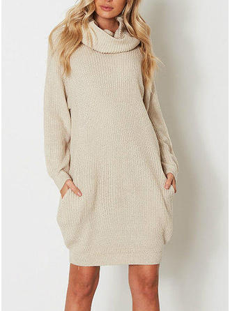 Chunky knit Turtleneck Sweater Dress