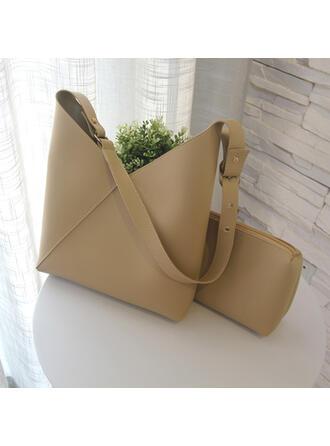 Clásica/Antiguo/Color sólido/Simple Bolsas de mano/Bolso de Hombro/Conjuntos de bolsa/Bolsas de cubo