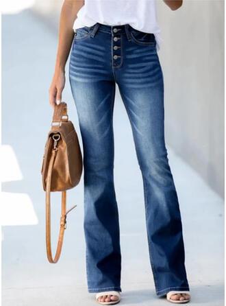 arricciato Taglia grossa Elegante Vintage Denim & Jeans