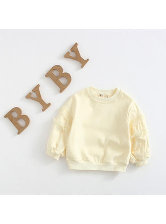 Bébé & Bambin Fille Solid Coton Sweat-Shirt