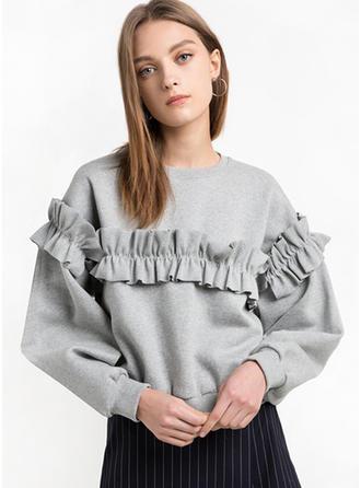 Baumwolle Einfarbig Pullover
