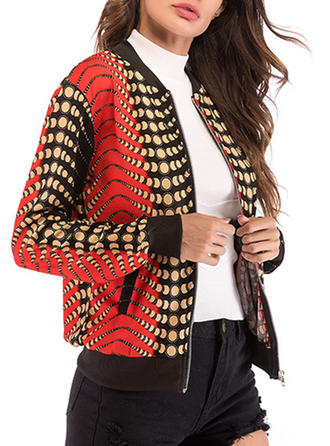 Polyester Long Sleeves Print Jackets