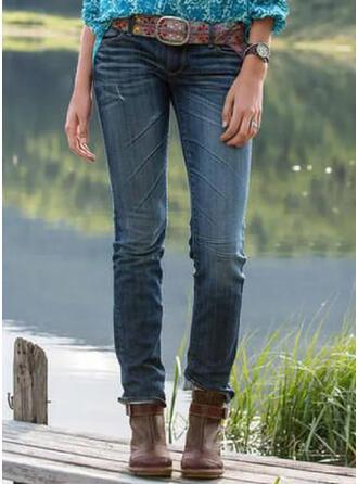 Froncé Grande taille Longue Élégante Tribal Jeans