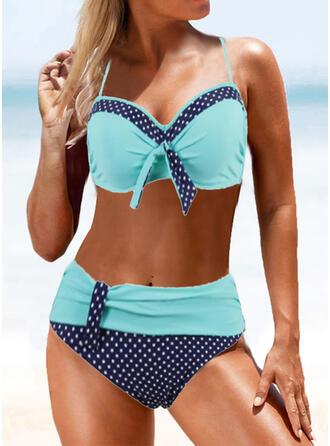 Punkt Hochtailliert Träger Sexy Bikinis Bademode