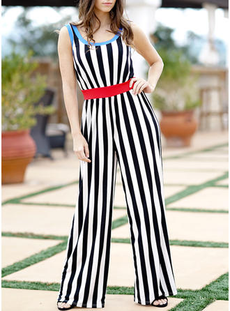 Striped Sleeveless Maxi Casual Dresses