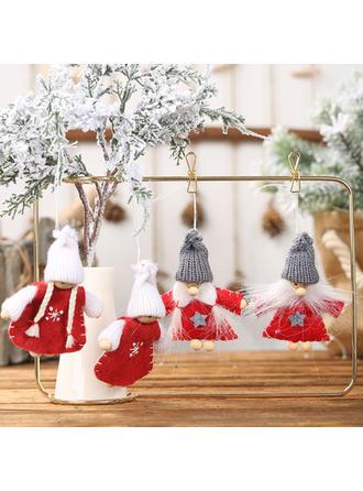 asztal törpe Karácsony angyal Függő Szövet Fa lógó díszek Baba (2-es készlet)