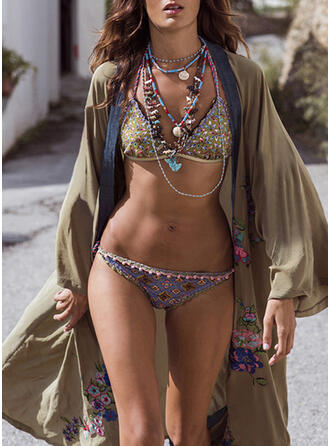 Floral Vintage Boho Cover-ups Swimsuits