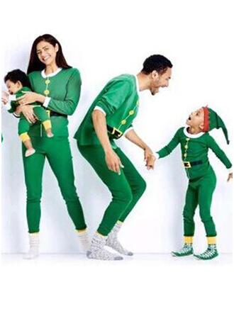 Kleur-Blok Voor Gezinnen Kerst Pyjamas