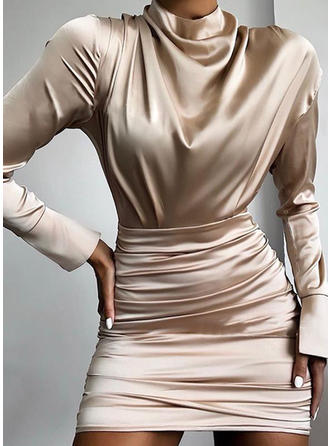 Sequins Long Sleeves Sheath Above Knee Casual Dresses