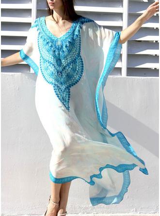 Junção de cores Sexy Elegante Na moda Túnicas Maiôs