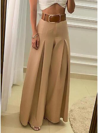 Solido arricciato Taglia grossa Elegante Vintage Pantaloni da salotto