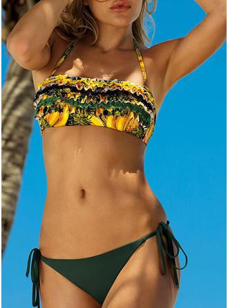 Low Waist Drawstring Halter Sexy Colorful Bikinis Swimsuits