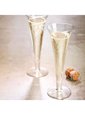 Classic Glass Champagne Glasses (Set of 4)