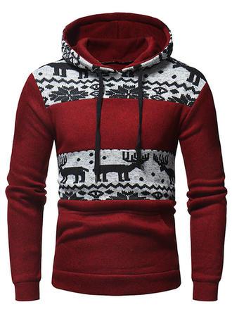 Bărbați Polyester Amestecuri de Bumbac Imprimeu Ren Crăciun brățară