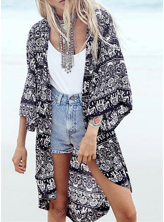 Fashionable Print Cover-ups Swimsuit
