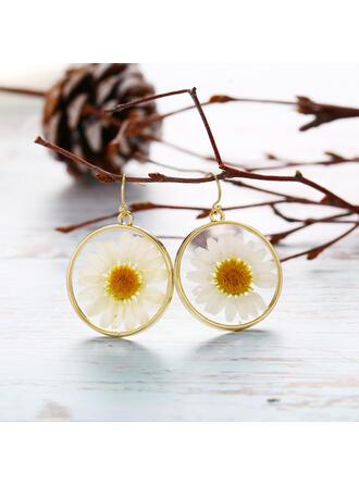Vynikající Okouzlující Slitina S květiny Náušnice