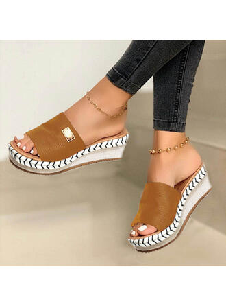 Vrouwen Suede Wedge Heel Sandalen Wedges Peep Toe Slingbacks Slippers met Anderen schoenen