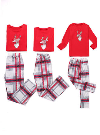 Plaid Familie Matchende Jul Pyjamas