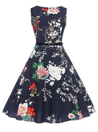Sleeveless A-line Knee Length Vintage/Party Dresses