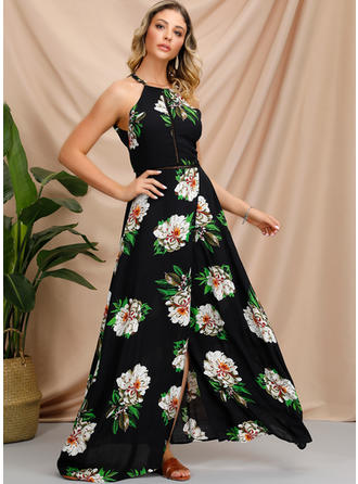 Print/Floral Sleeveless A-line Maxi Sexy/Casual/Vacation Dresses