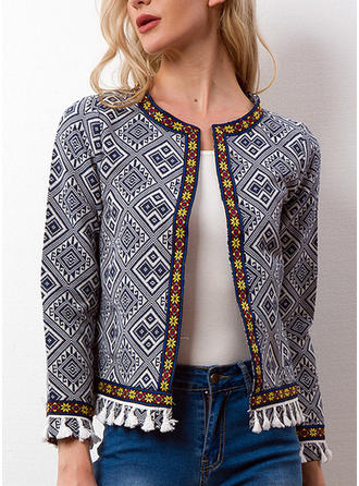 Cotton Long Sleeves Embroidery Blazers