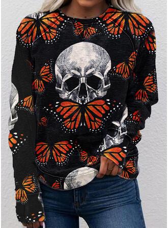 Dyr Halloween rund hals Lange ærmer Sweatshirts