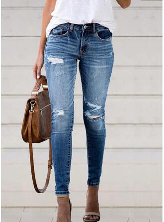 Froncé Déchiré Élégante Sexy Jeans