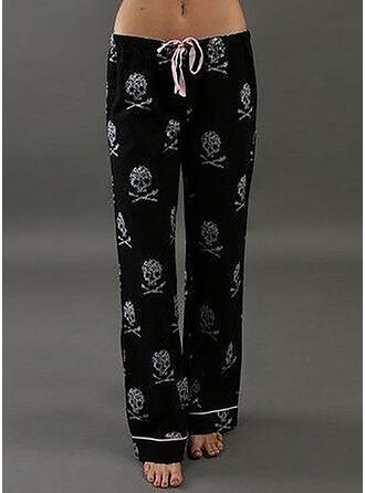 Print Long Casual Long Sporty Print Pants