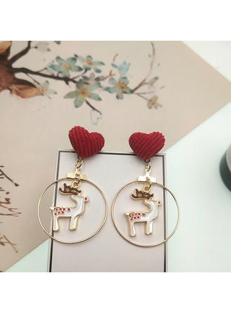 Unique Shining Exquisite Alloy Silver Plated Earrings Christmas Jewelry