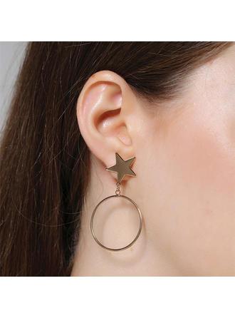 Unique Alloy Women's Fashion Earrings (Set of 2)
