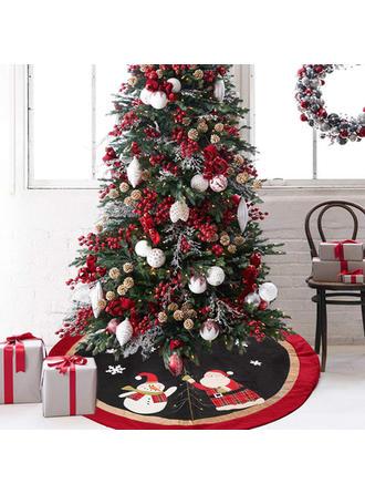 Feliz Navidad Tela no tejida Falda del árbol de navidad