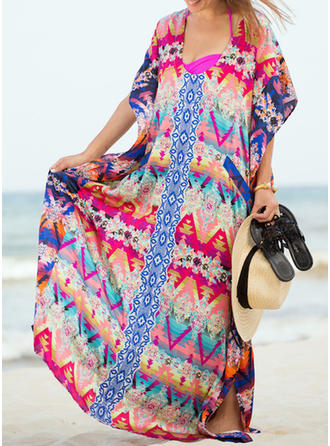 Triangle U Neck Fashionable Beautiful Bohemian Cover-ups Swimsuits