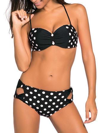 Dot Strap Bikini Swimsuit