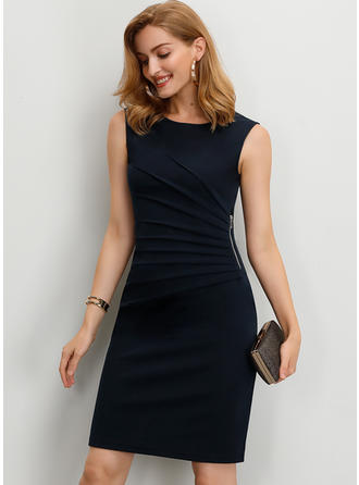 Color-block Sleeveless Sheath Above Knee Little Black/Party Dresses