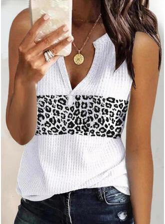 lampart Dekolt w kształcie litery V Bez Rękawów Koszulki bez rękawów