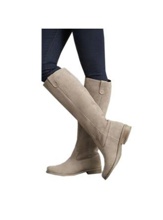 Femmes PU Talon plat Chaussures plates Bout fermé Bottes avec Autres chaussures