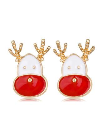 Lovely Alloy Earrings Christmas Jewelry