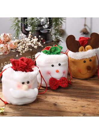 vrolijk kerstfeest Sneeuwman Rendier de kerstman Cadeau tas Doek Apple Tassen