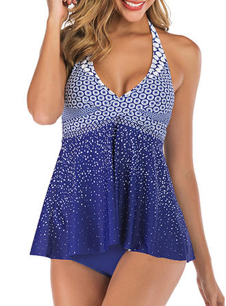Dot Halter Sexy Tankinis Swimsuits