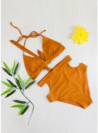 Taille Haute Chaîne À Bretelles Sexy Bikinis Maillots De Bain