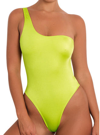 High Cut One-Shoulder Sexy One-piece Swimsuits