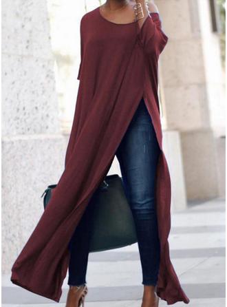 3/4 Sleeves Shift Maxi Casual Dresses