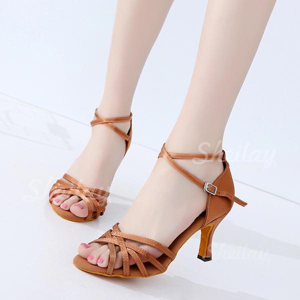 Női latin Sarok Szatén Alkalmi cipők