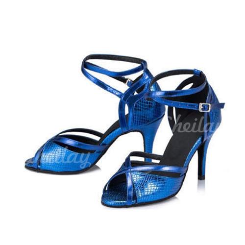 Жіночі Латинський Сандалі Шкіра з Гомілковий ремінець Сучасне взуття